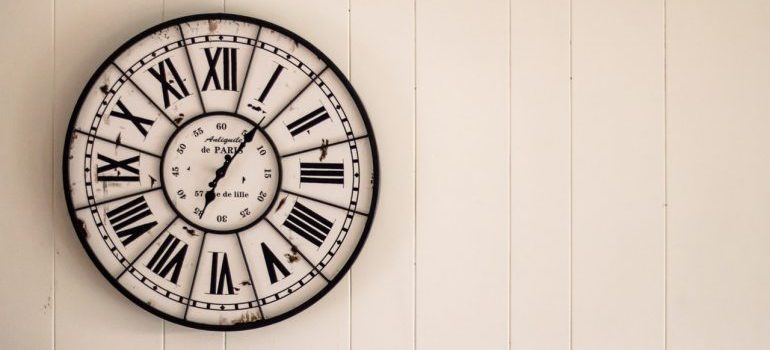 A wall clock - hiring residential movers Florida will save you time