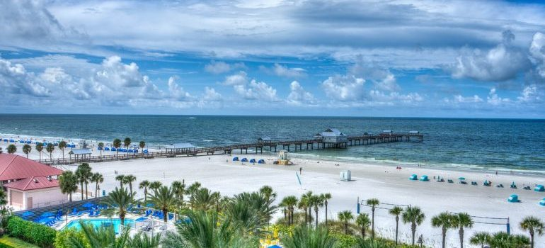 Clearwater and a beach