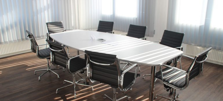 A conference room our Coral Springs movers can help relocate