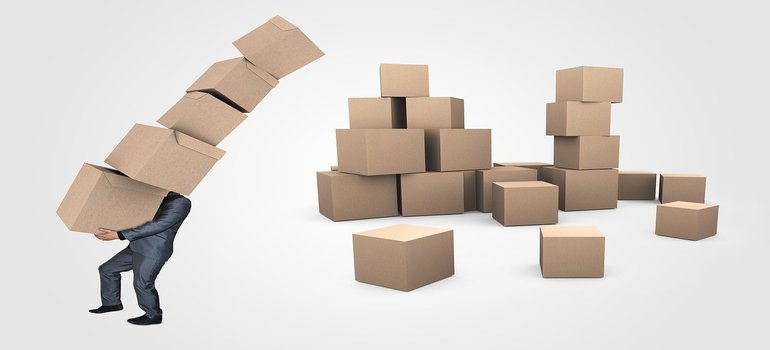 pile of boxes - find quality packing supplies in Fort Lauderdale in grocery shops