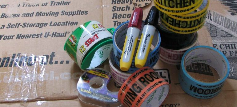 Labeling markers and tape