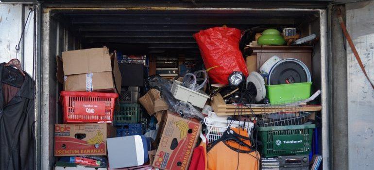 Crammed storage unit