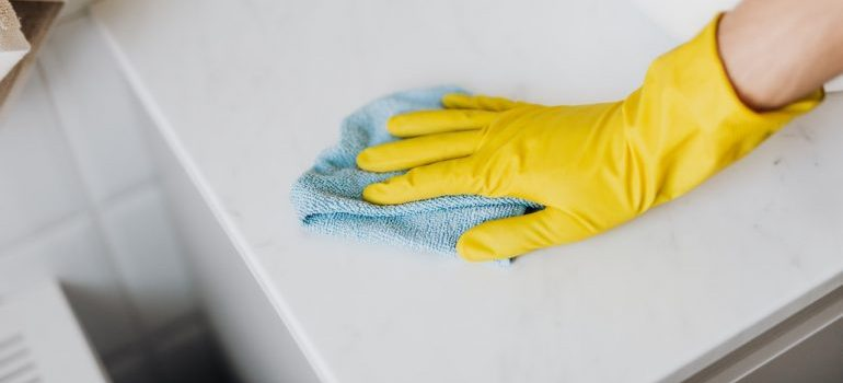 Microfiber makes any move-in cleaning effortless.