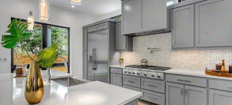 clean kitchen staged for sale
