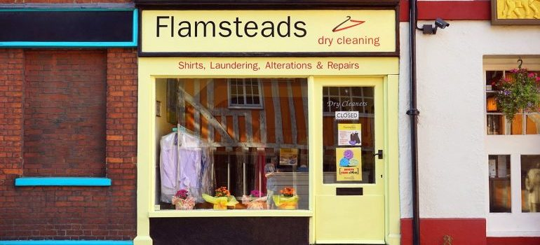 Dry cleaners shop