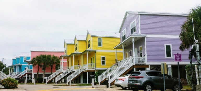 a line of houses
