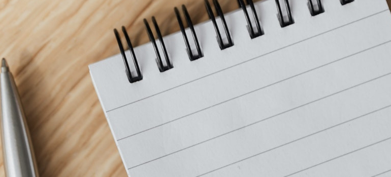 paper you will use to make a plan before you unpack efficiently after moving