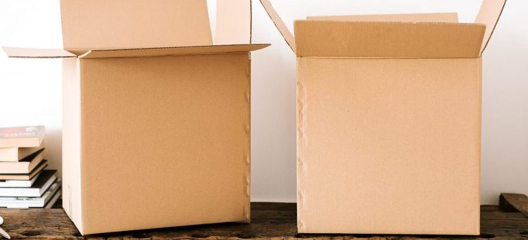 moving IT equipment in cardboard boxes